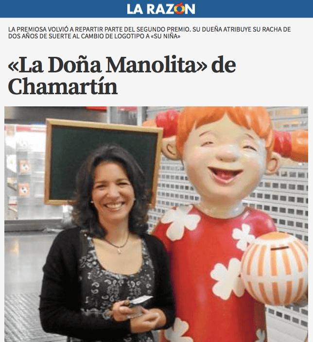 segundo premio gordo del niño repartido en La Premiosa
