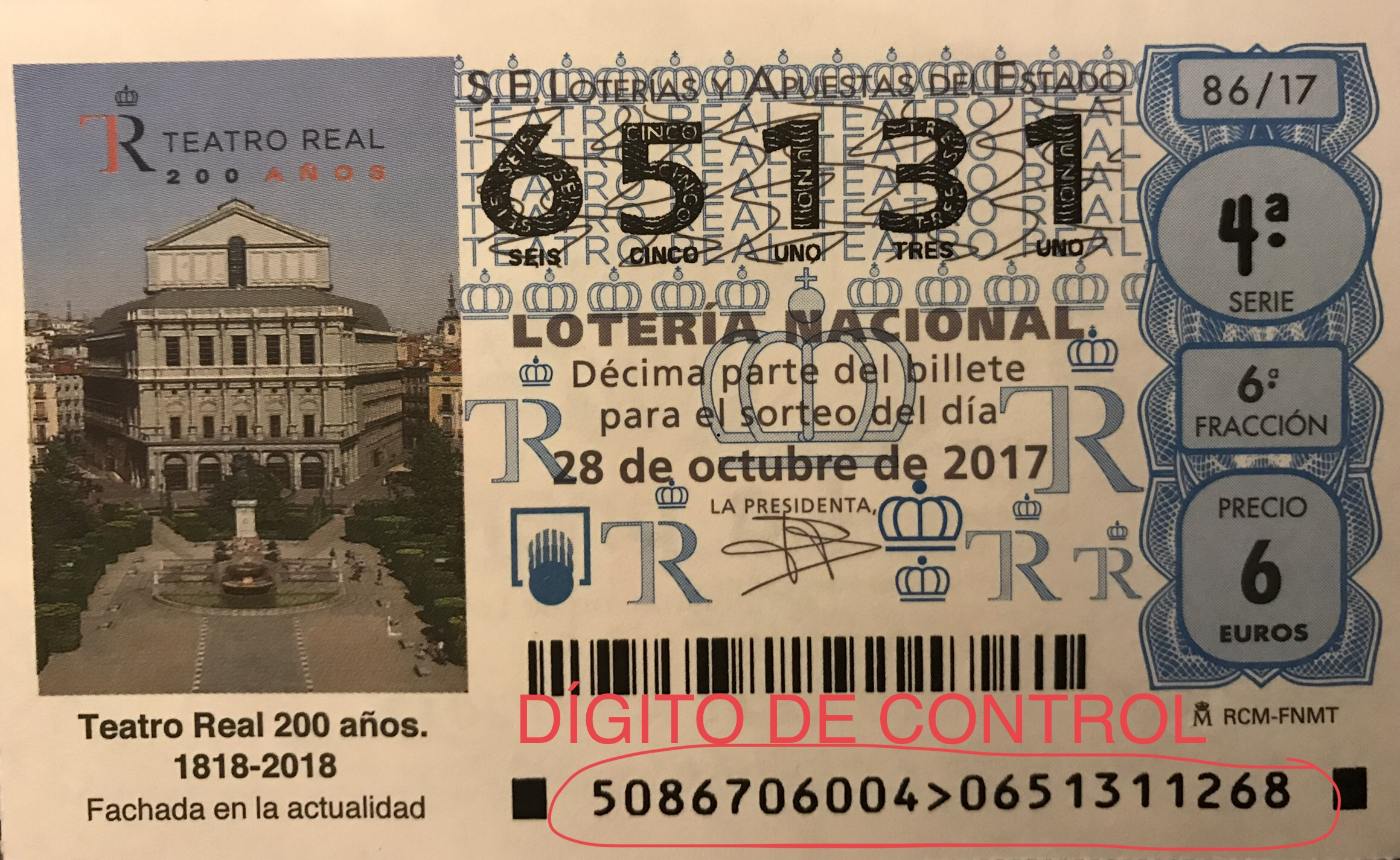 COMPARTIR DECIMO DE LOTERIA, ANVERSO